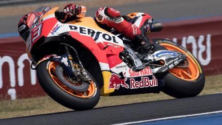 Marc Marquez in azione sulla sua Honda. Getty
