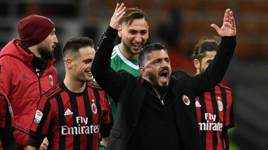 """Gattuso: """"Merito  dei ragazzi Io cuore e grinta, va bene…"""""""