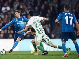 Ronaldo in azione a Siviglia. Getty Images