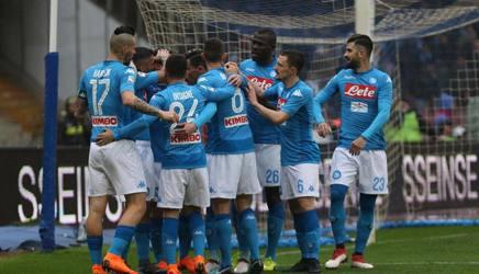 Il Napoli esulta: è la nona vittoria consecutiva. Ansa