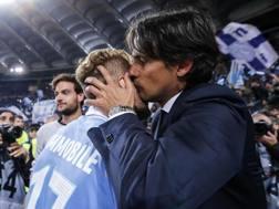 Simone Inzaghi, 41 anni, e Ciro Immobile, 27. L'attaccante non segna dal 6 gennaio. Ansa