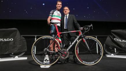 Fabio Aru, 27 anni, con Ernesto Colnago