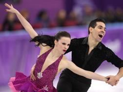 Anna Cappellini e Luca Lanotte durante il corto danza. Getty
