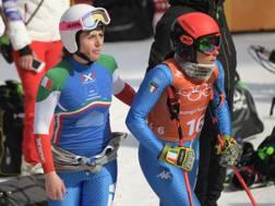 Sofia Goggia, a destra, e Nadia Fanchini. Afp