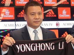 Li Yonghong (48), presidente del Milan. ANSA