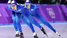 Kim Bo-Reum, Noh Seon-Yeong, e Park Ji Woo in azione nei quarti di finale Afp