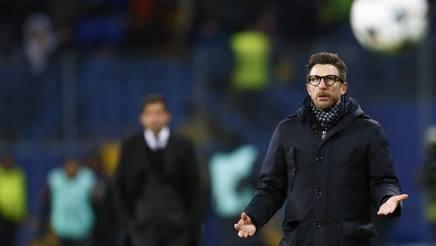 Eusebio Di Francesco, tecnico della Roma. Ap
