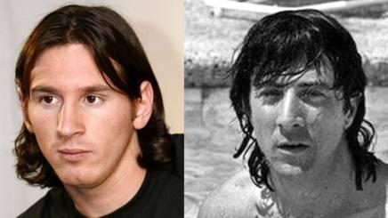 Lionel Messi (30) e Dustin Dustin Hoffman (80)