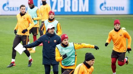 Di Francesco durante l'allenamento a Kharkiv.