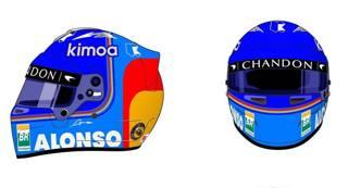Il nuovo casco di Alonso per il mondiale 2018