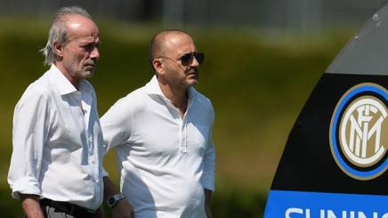 Walter Sabatini, 62 anni, è il coordinatore dell'area tecnica di Suning Sports Group, con Piero Ausilio, 45, d.s. dell'Inter. Getty