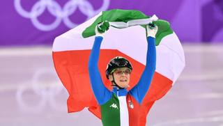 Arianna Fontana, 25 anni, oro, argento e bronzo a questi Giochi. Afp