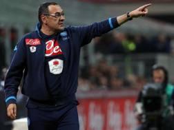 Maurizio Sarri, 59 anni, allenatore del Napoli. Ansa