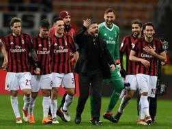 Rino Gattuso, 40 anni, tra i giocatori del Milan. Getty