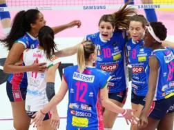 L'esultanza di Novara per la vittoria RUBIN/LVF