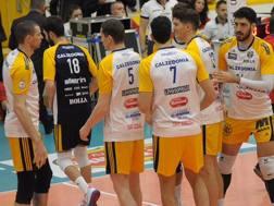 L'esultanza dei giocatori di Verona