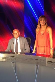 La giornalista Titti Improta col padre Gianni, ex giocatore azzurro