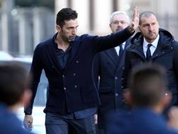 Gigi Buffon ai funerali di Davide Astori a Firenze. Getty Images