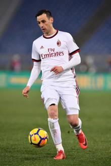 Kalinic, 30 anni, attaccante del Milan. LaPresse