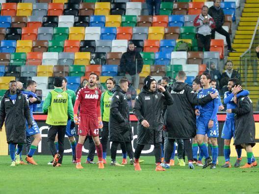 Udinese-Sassuolo 1-2 Il Tabellino