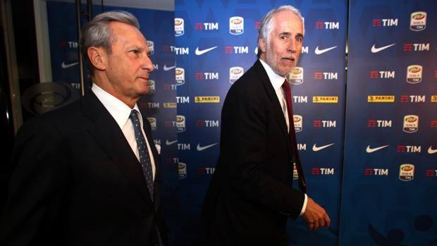 Gaetano Miccichè e Gaetano Malagò. Lapresse