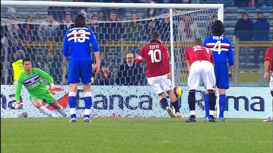 """Tutti i """"cucchiai"""" di Totti."""