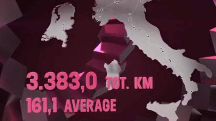 Il percorso del Giro d'Italia 2016 tappa per tappa