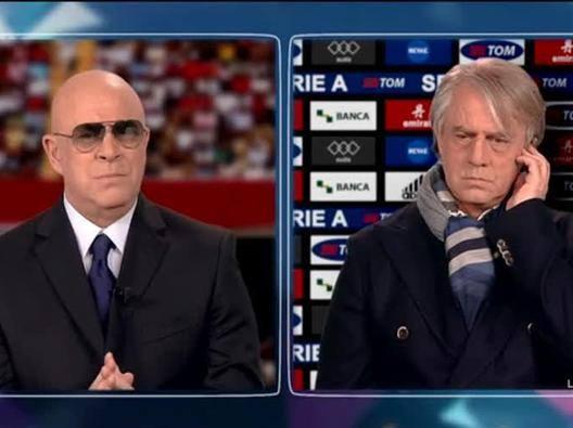 La7, Maurizio Crozza irresistibile: Sacchi contro Mancini