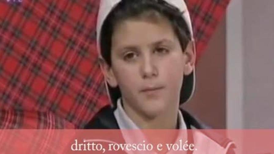 Djokovic a 7 anni: che spavaldo!
