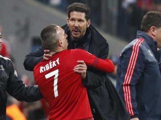 Bayern-Atletico: Simeone e Ribery, quasi rissa