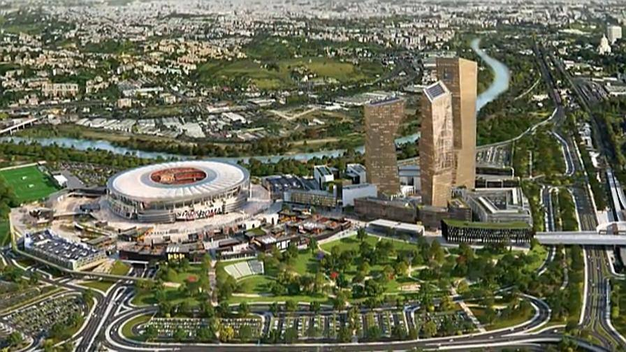 Roma, il progetto del nuovo stadio
