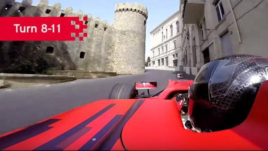 Baku, ecco la pista: occhio al castello alla curva 8!