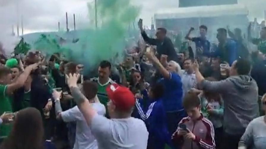 Irlanda del Nord, delirio a Belfast