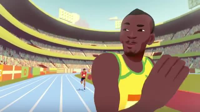 Rio usain bolt diventa un cartone animato video gazzetta