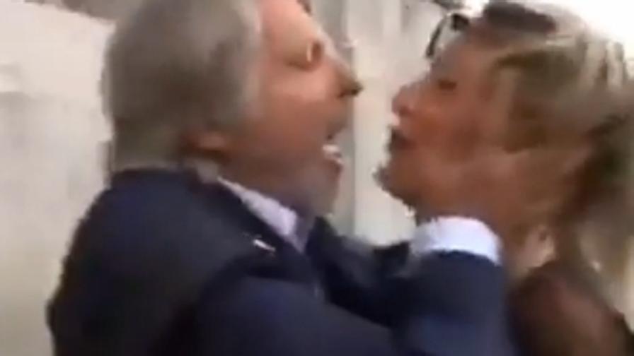 Ferrero scatenato con la giornalista