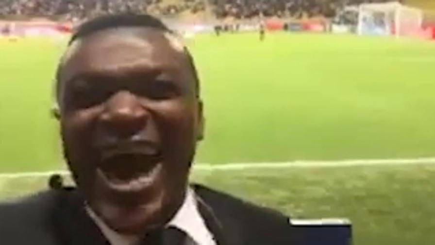 Desailly e il gol in diretta<br>L'esultanza diventa virale