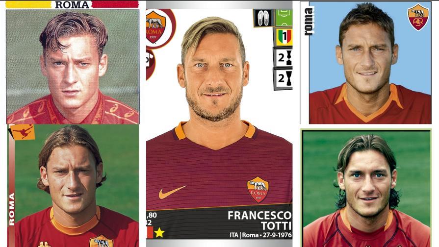 Totti, 25 anni di Serie A nelle figurine Panini