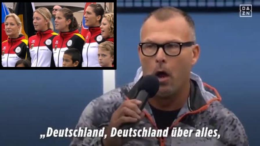 Inno sbagliato: le tedesche di Fed Cup cantano strofa giusta