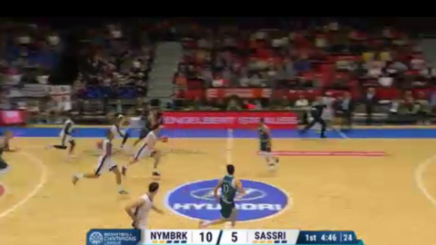 Sassari KO col Nymburk, ma va agli ottavi: highlights