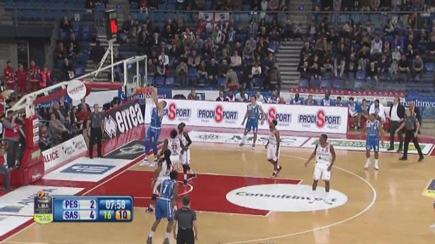 Basket, Serie A, Pesaro-Sassari 76-71