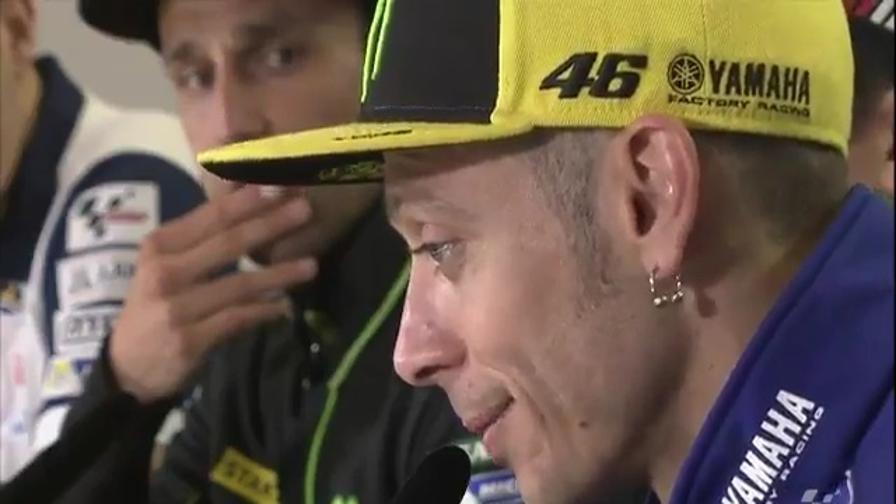 Rossi commosso per Hayden