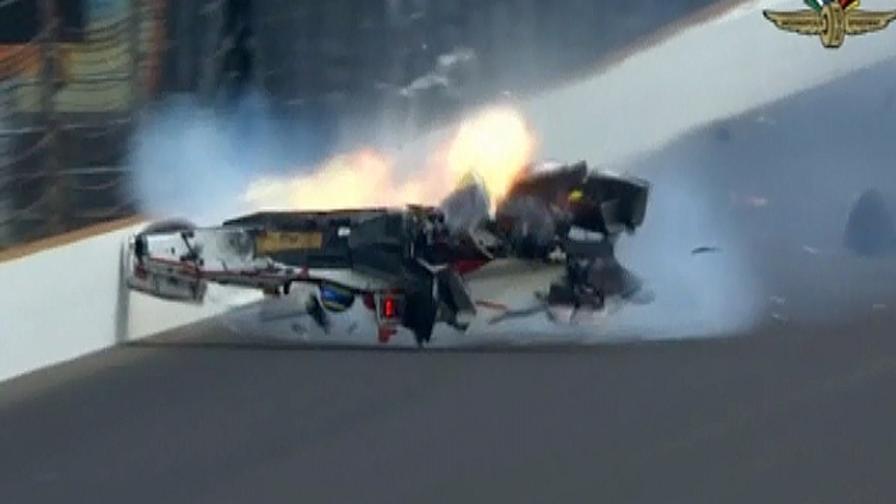 Indy: Bourdais schianto a 370 km/h