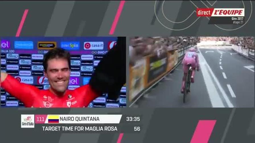 Il momento in cui Dumoulin vince il Giro