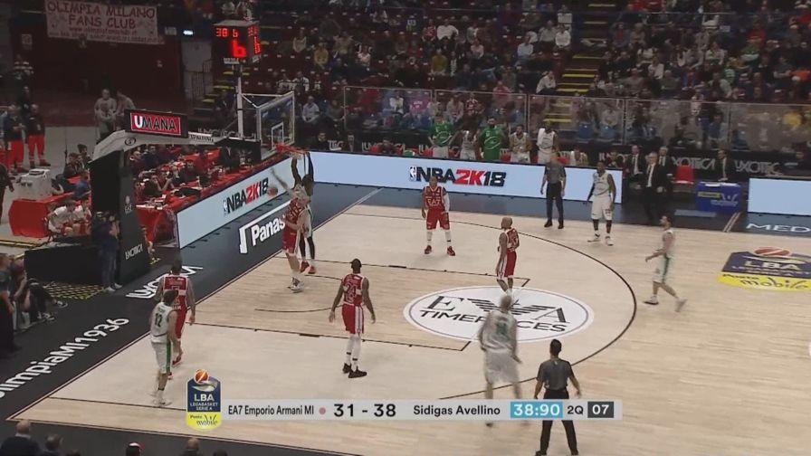 Basket, Milano-Avellino 92-94 dopo 2 t.s.