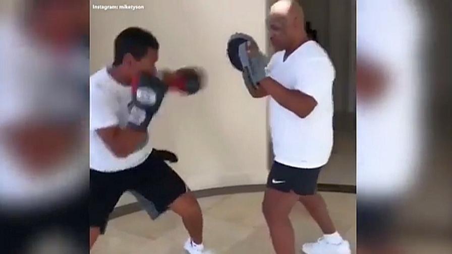 Tyson vs Tyson, Mike allena il figlio Miguel
