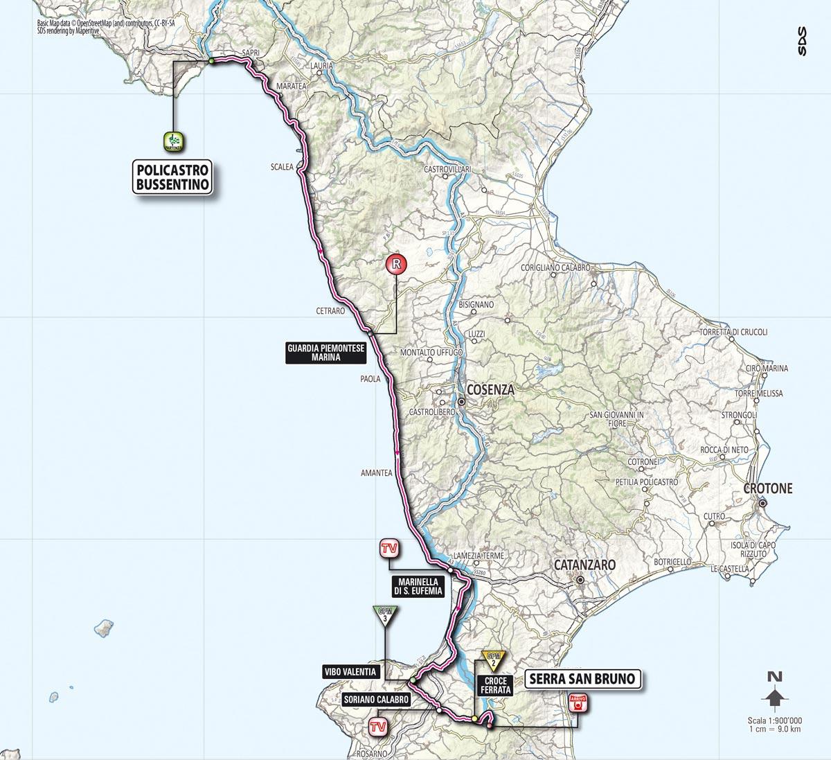Percorso tappa 04 giro d 39 italia 2013 gazzetta dello sport for Planimetrie della serra