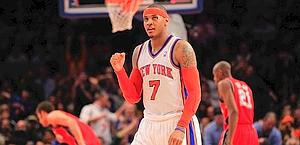 Carmelo Anthony, 39 punti contro i Nets. Afp