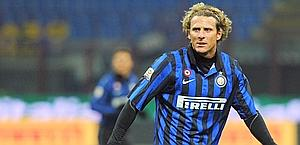 Diego Forlan, primo anno all'Inter. Ansa