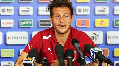 Alessandro Diamanti in conferenza stampa a Coverciano. Sport Image