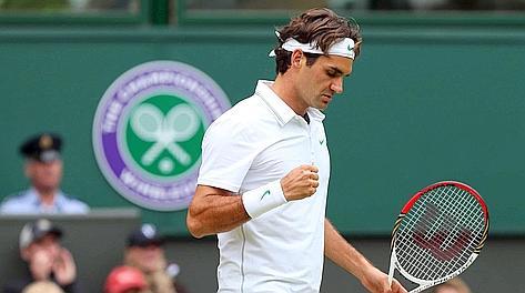 Roger Federer, ai quarti dopo aver battuto Malisse. Ansa